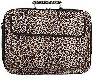 "Leopard Padded Laptop Notebook Computer Bag - 17"" from World Traveler"
