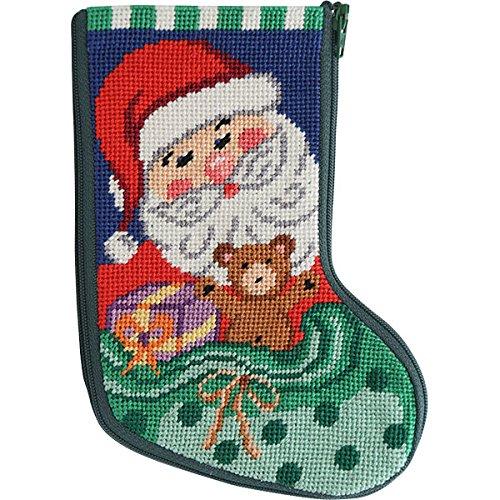 Stitch & Zip Santa and Toys Mini Stocking Needlepoint Kit