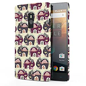 Koveru Back Cover Case for OnePlus Two - Elephant Abstract