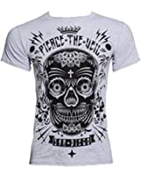 Official T Shirt PIERCE THE VEIL Selfish Machines SUGAR SKULL Grey All Sizes