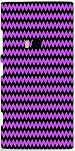Snoogg Purple Black Wave 2456 Case Cover For Nokia 920