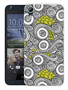 """Humor Gang Wavy Dreams Classy Pattern Printed Designer Mobile Back Cover For """"HTC DESIRE 626"""" (3D, Matte, Premium Quality Snap On Case)"""