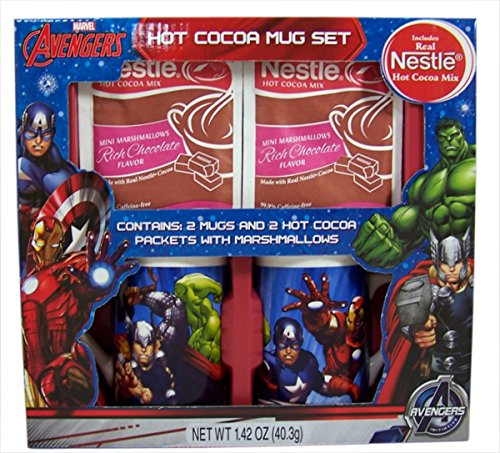 Hot Cocoa Character Mug Holiday Gift Set with Nestle Cocoa Packets (Marvel Avengers) (Avengers Coffee Mug Set compare prices)