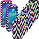 """myLife (TM) Yellow - Chevron Design (3 Piece Hybrid) Hard and Soft Case for the Samsung Galaxy S4 """"Fits Models: I9500 I9505 SPH-L720 Galaxy S IV SGH-I337 SCH-I545 SGH-M919 SCH-R970 and Galaxy S4 LTE-A Touch Phone"""" (Fitted Front and Back Solid Cover Case + Internal Silicone Gel Rubberized Tough Armor Skin + Lifetime Warranty + Sealed Inside myLife Authorized Packaging) """"ADDITIONAL DETAILS: This three layer Galaxy S4 armor skin gel fit together case is made of grip easy smooth silicone and hardshell plates that slide in to your pocket easily yet won"""