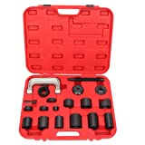 TRIL GEAR 21pc Ball Joint Auto Repair Tool Service Kit Remover Installer Master Adapter Set C-Frame Press 2&4WD (Color: Black)
