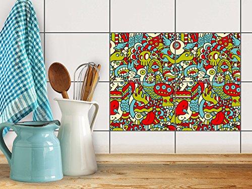 reparation-baignoire-carrelage-sticker-autocollant-art-de-tuiles-mural-design-monster-doodle-20x15-c