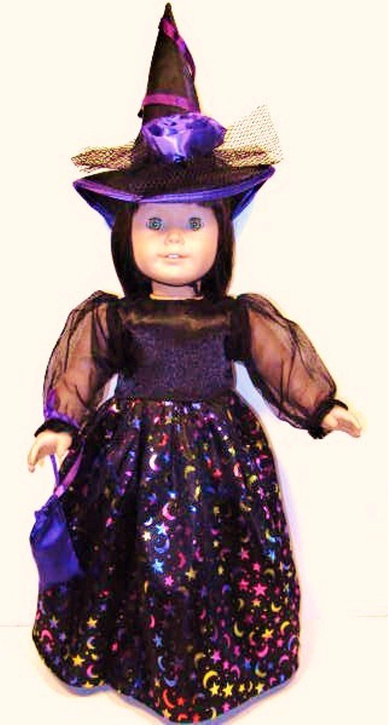 All American Girl Costumes Witch Costume Fits American