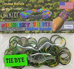 Tie Dye Rubbzy Camouflage Loose Rubber Bands