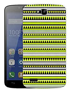 "Green Aztec Ethnic Print Printed Designer Mobile Back Cover For ""Huawei Honor Holly"" By Humor Gang (3D, Matte Finish, Premium Quality, Protective Snap On Slim Hard Phone Case, Multi Color)"