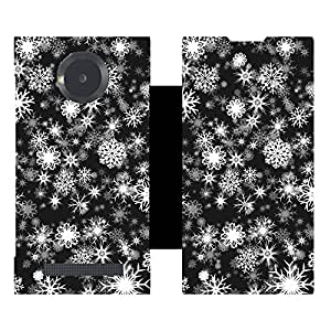 Skintice Designer Flip Cover with hi-res printed Vinyl sticker wrap-around for Micromax Yu Younique 5050