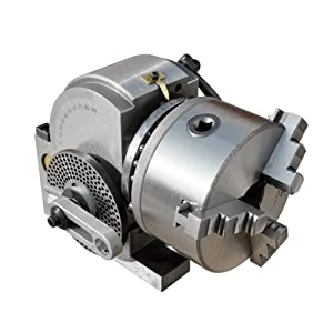 ECO-WORTHY Dividing Head BS-0 5Inch 3 Jaw Chuck Dividing Head Set Precision Semi Universal Dividing Head for Milling Machine Rotary Table Tailstock Milling Set (5 Inch Chuck) (Tamaño: 5 inch)