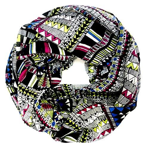 accessu-Echarpe-Foulard-pour-Femme-High-Fashion-Multicolor-EthnoAztec-Pattern