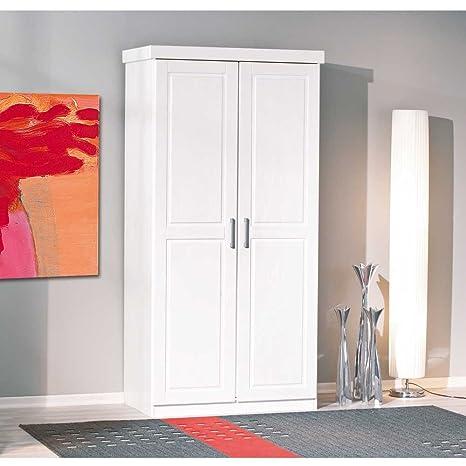 Kleiderschrank Classico in Weiß lackiert Pharao24