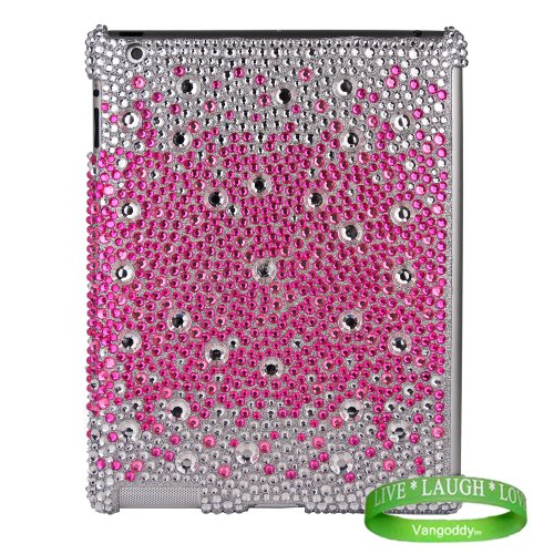Bedazzled Diamond Purple Cover Hard Case for all models of The New Apple iPad ( 3rd Generation, iPad3, wifi , + AT&T 3G , 16 GB , 32GB , MC707LL/A , MD328LL/A , MC705LL/A , MC706LL/A , MD329LL/A , MD368LL/A , MC756LL/A , MC744LL/A , ect.. ) + Live Laugh Love Vangoddy Wrist Band!!!