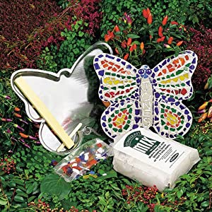 Midwest Products Mosaic Butterfly Stepping Stone Kit for Children