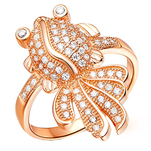 Bamoer (Buy Ring Get Earring) Gold Plated Finger Ring For Women Aaa Cubic Zircon Cz Wedding Jewelry (8)