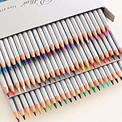 Soucolor 72 Artist Grade Coloring Pencils Marco Raffine Colored Drawing Pencils for Artwork Office Art Therapy Books