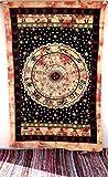 Handicrunch Twin Astrology Horoscope Zodiac Black Yellow Mandala Tapestry Dor...