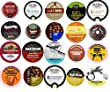 20 Cup LIGHT & MEDIUM Roast ONLY Coffee Sampler -20 different Light and Medium Roast NON-flavored Coffees. Wolfgang Puck, Tim Hortons, Hurricane Coffee++