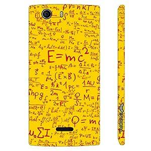 Micromax Canvas Nitro 2 E311 Einstein Energy Yellow designer mobile hard shell case by Enthopia
