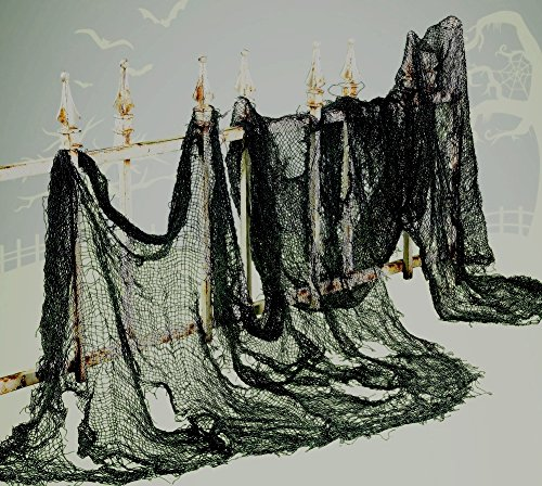 Super Sized Black Halloween CREEPY CLOTH - 8 YARDS