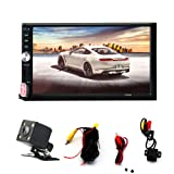 Double Din Touch Screen Car Stereo with Bluetooth 7 Inch Car Radio Receiver MP5/MP4/MP3 Player Support FM Radio USB and SDcard with Remote Control