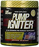 Top Secret Nutrition Pre Workout Pump Igniter, Grape, 30 Count