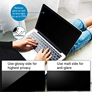 Ovimir - 15 inch Magnetic Privacy Anti-Spy/Glare Screen Protector Filter Compatible MacBook Pro 15.4'' Laptop (2012-mid 2016 Version: A1398 Models) (Color: Macbook Pro 15.4''(2012-mid 2016)?Magnetic?, Tamaño: Macbook Pro 15.4''(2012-mid 2016))