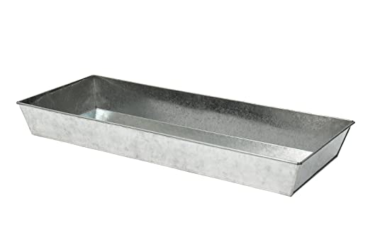 Large Gray Galvanized Steel Antiqued Tray by Achla Designs