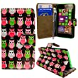 For Nokia Lumia 635 Printed Multi Birds Owls Style 1 Book Type PU Leather Magnetic Flip Case Cover Pouch+STYLUS BY CONTINENTAL27