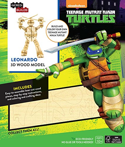 IncrediBuilds: Teenage Mutant Ninja Turtles: Leonardo 3D Wood Model