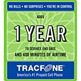 Tracfone 1 Year of Service & 400 Minutes by Tracfone
