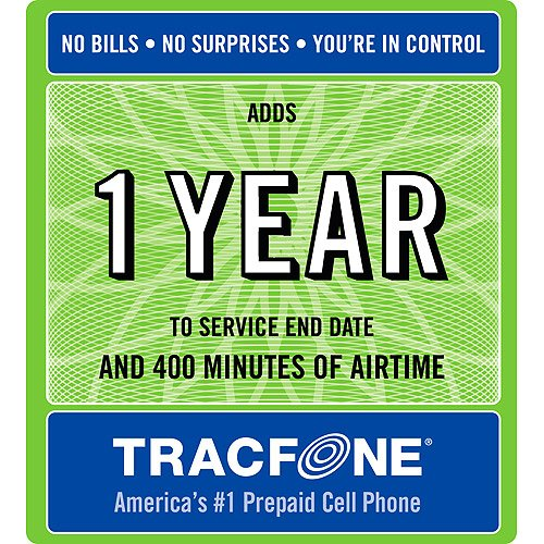 Tracfone 1 Year of Service & 400 Minutes