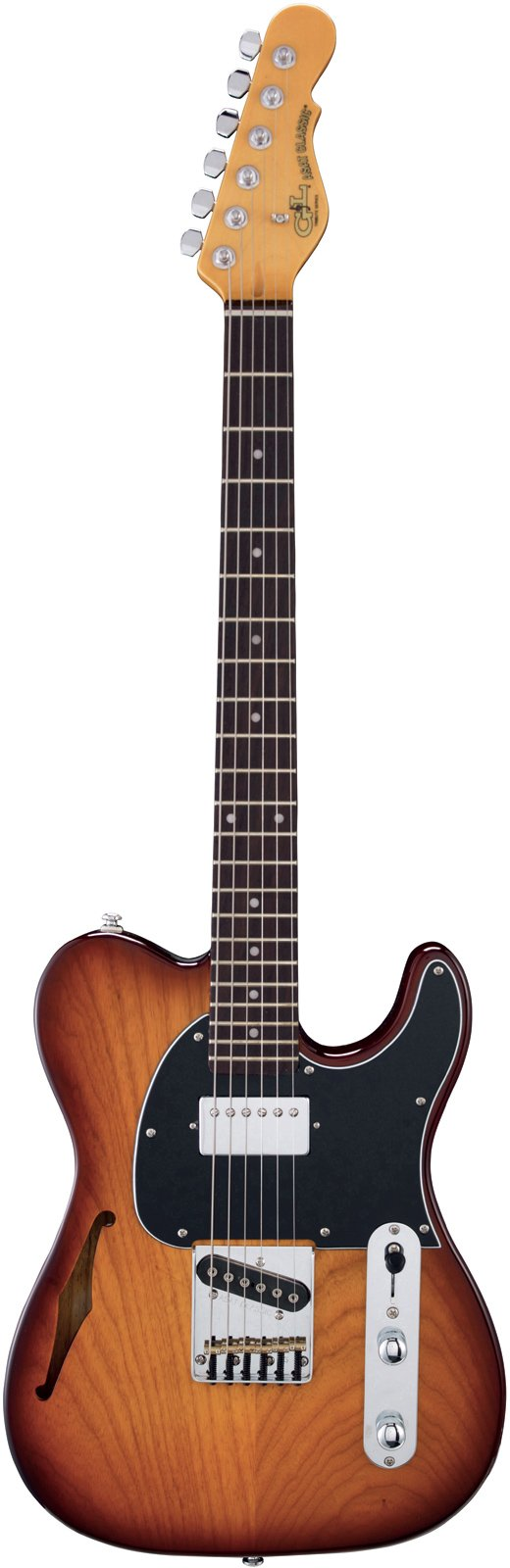G&L Tribute ASAT Classic Bluesboy Semi-Hollow Electric Guitar Tobacco Sunburst Rosewood Fretboard (Color: Tobacco Sunburst)