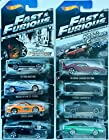 2014 Hot Wheels Fast & Furious Complete Set of 8 - '70 Dodge Charger R/T, Toyota Supra, Nissan Skyline GT-R (R34), '67 Ford Mustang, '72 Ford Gran Torino Sport, '08 Dodge Challenger SRT8, '11 Dodge Charger R/T, '69 Dodge Charger Daytona