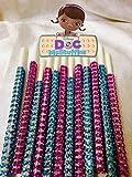 Disney Jr. Doc McStuffins Inspired Specialty Bling Cake Pop Sticks - Purple & Teal Glam for Lollipops, Cake Pops and All Things Party - Bling Sticks 6 15.2 Cm - 12 Ct Set