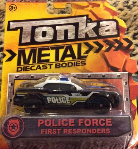 Tonka Metal Diecast Bodies - First Responders Police Force Cruiser 1:55 scale
