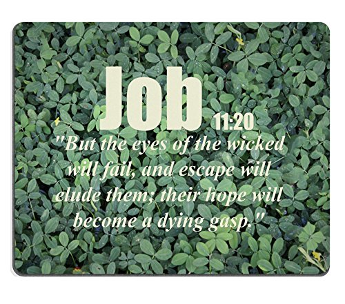 Bible Verses Quote Job 11_20 But the eyes of the wicked will fail and escape will elude them their hope will become a dying gasp MSD Customized Made to Order Cloth with Neoprene Rubber Mouse Pads