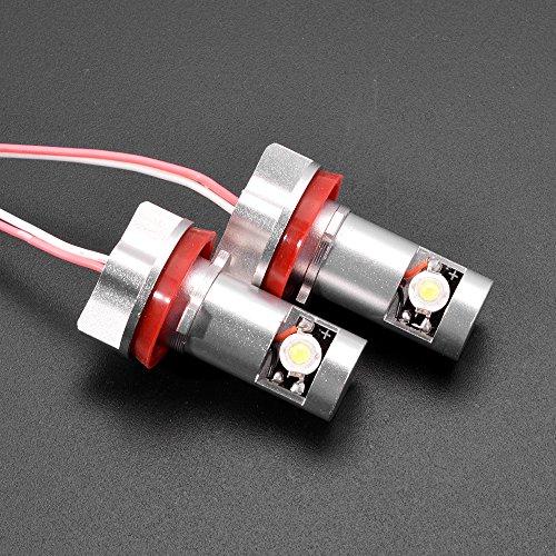 2X High Power Error Free H8 6000K Angel Eye Marker Headlight Halo Ring Led Light Bulb + Ballast For 07-12 Bmw E70 X5 E93 328I 335I E92 M3