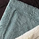 Home Source International Egyptian Cotton Non-Slip Rug, Large, Aqua Blue
