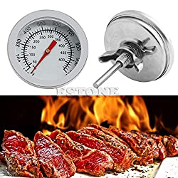 Barbecue BBQ Smoker Grill Stainless Steel Thermometer Temperature Gauge