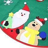 """Ohuhu Santa and Reindeer Christmas Tree Skirt Green 36"""""""