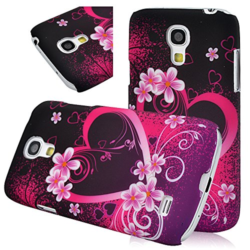 Flower Love Heart - Pc Hard Cover Case For Samsung Galaxy S4 Mini (Not Fit S4) Light Protective Back Shell Skin