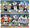 2015 Donruss Football Miami Dolphins Team Set of 6 Cards: Ryan Tannehill, Lamar Miller, Greg Jennings, Jordan Cameron, Ndamukong Suh, Dan Marino