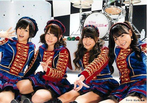 AKB48 公式生写真 ハート・エレキ 店舗特典 多売特典 【山本彩&川栄李奈&入山杏奈&多田愛佳】