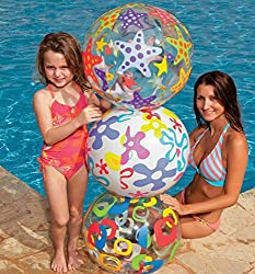 Intex Lively Print 24 inch Inflatable Beach Ball - Water Toys Games (Colors And Design May Vary)