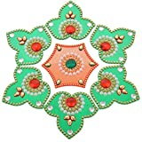 Kapasi Handicrafts Acrylic Rangoli For Diwali Home Decor Multi Colored - LBH 24 x 24 x 1 Cms(KHEA464)