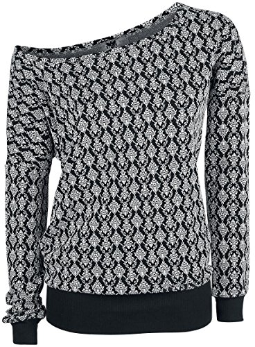 Black Premium by EMP Jacquard Sweatshirt Felpa donna nero XXL