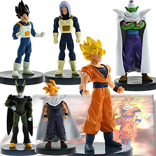 New Lot 6 pcs Dragonball Z Dragon ball DBZ Joint movable Action Figure Toy Set Anime