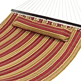 Best Choice Products® Hammock Quilted Fabric With Pillow Double Size Spreader Bar Heavy Duty Stylish